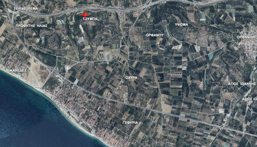 Земя за продажба в Паралия Офринио, Кавала